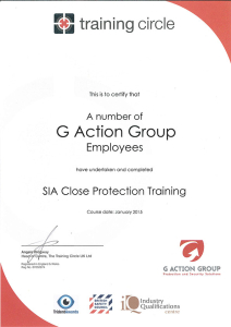 SIA Close Protection Training