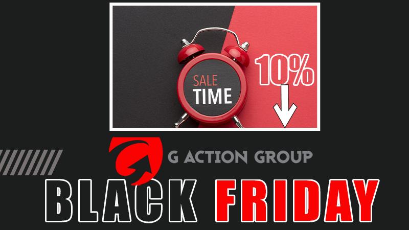 Il Black Friday di G Action Group: scopri la promozione riservata al mondo web. Offerta valida dal 25 al 30 Novembre 2020.